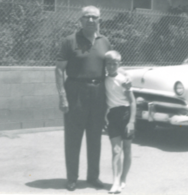 LeRoi Orwin Lillywhite with grandson Danny Noorlander 1964.
